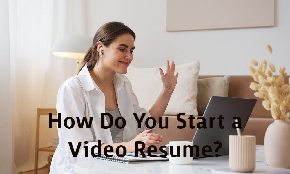 start a video resume